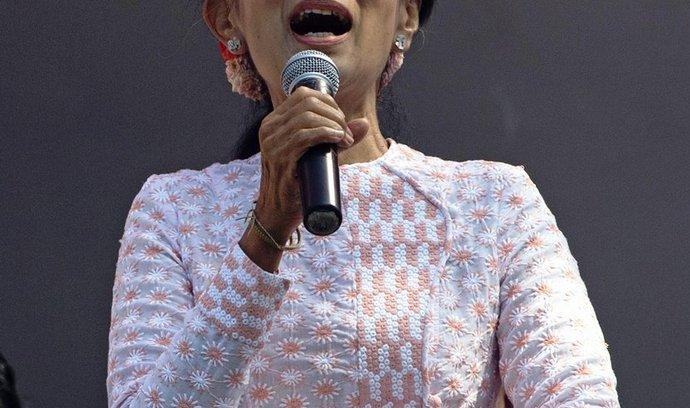 barmské opoziční vůdkyně a nositelka Nobelovy ceny za mír Do Aun Schan Su Ťij