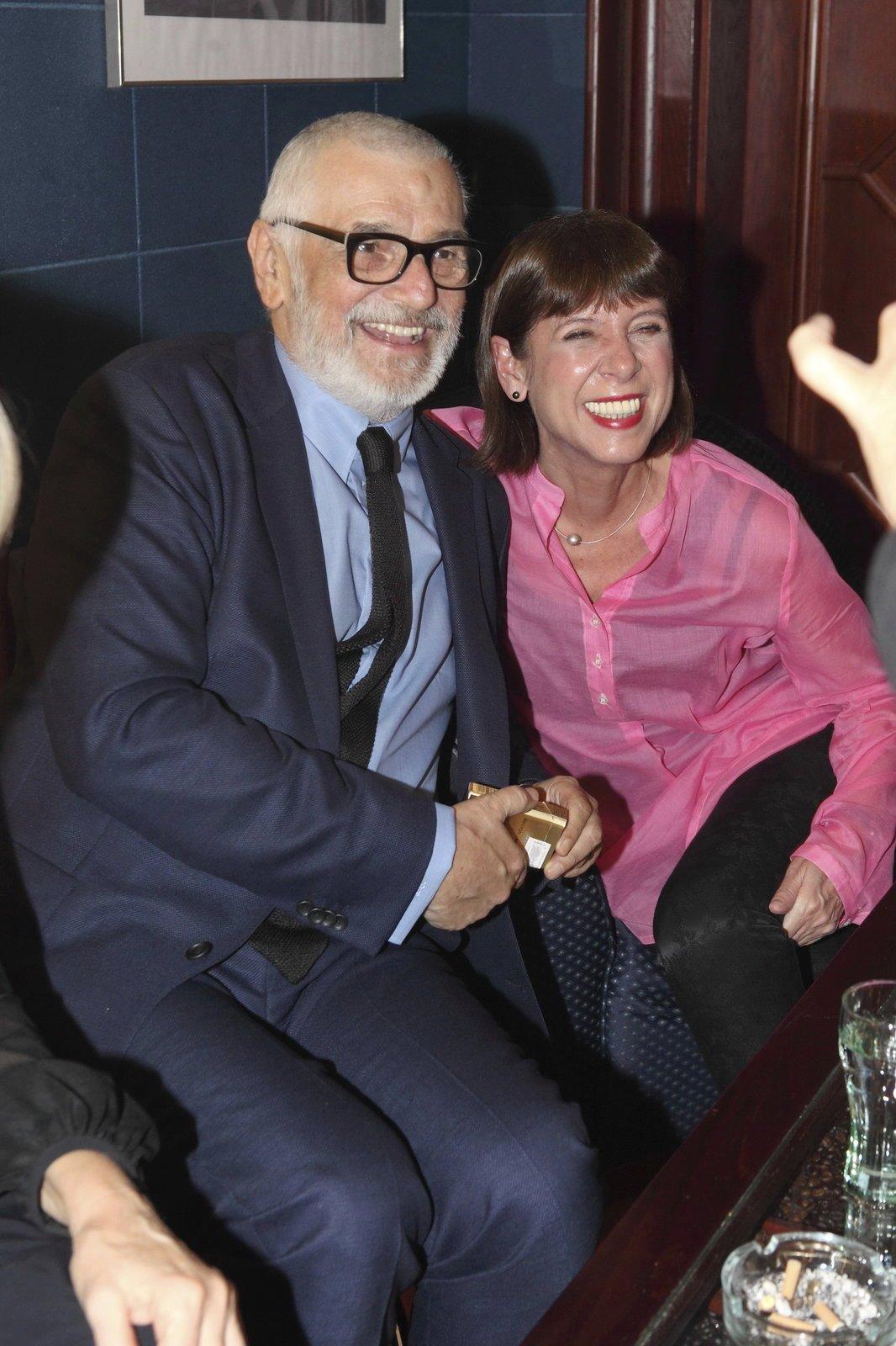 Jiří Bartoška s manželkou Andreou.