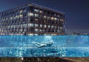 Světové topmodelky  využívaly tento bazén pro focení  před jeho oficiálním otevřením.