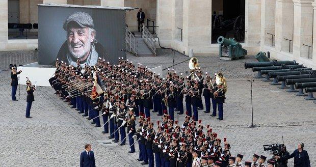 Státní Pohřeb Jean-Paul Belmonda: Francouzský prezident Emanuel Macron