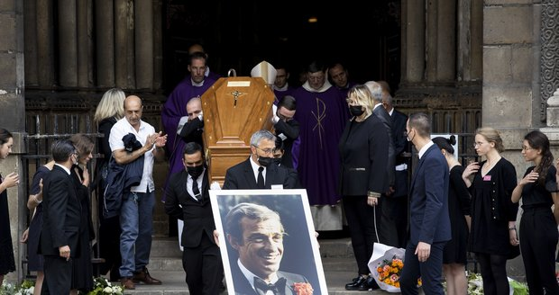 Pohřeb Jeana-Paula Belmonda (†88)