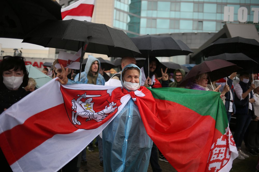 V Bělorusku pokračují protesty proti prezidentovi Lukašenkovi, (6.09.2020).