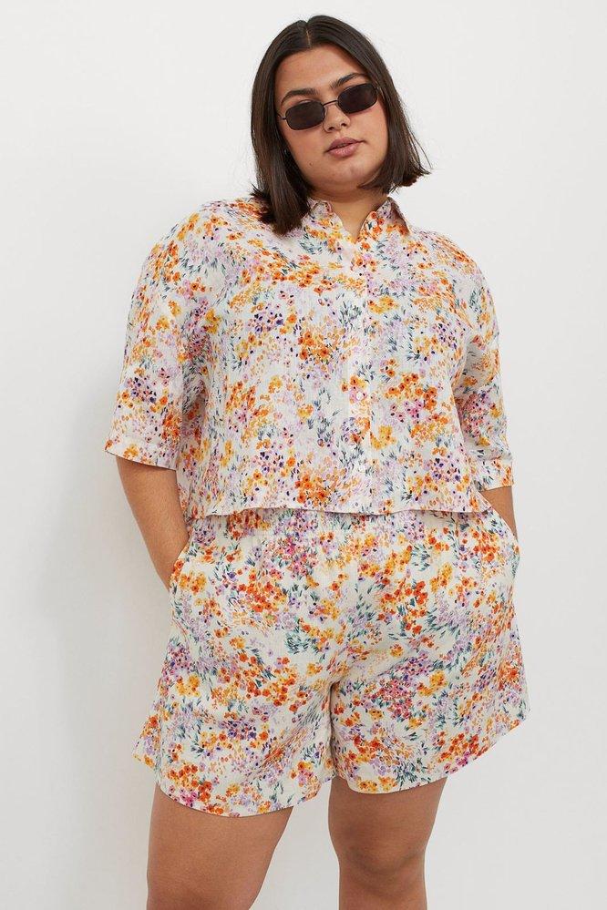 Široké šortky, H&M, 349 Kč