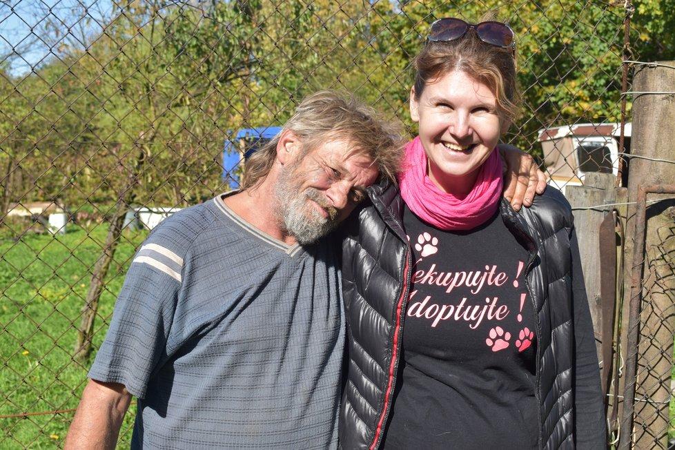 Předsedkyně spolku Barbora Tocauerová (43) s Milanem (54)