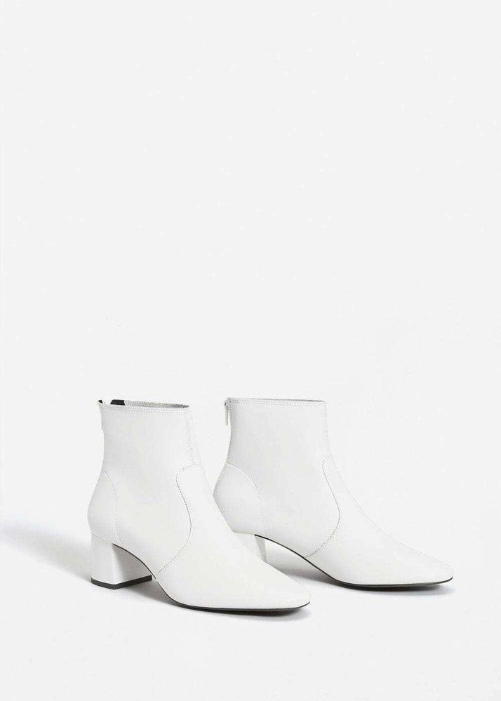 Kožené kotníkové boty, Mango, 1299 Kč
