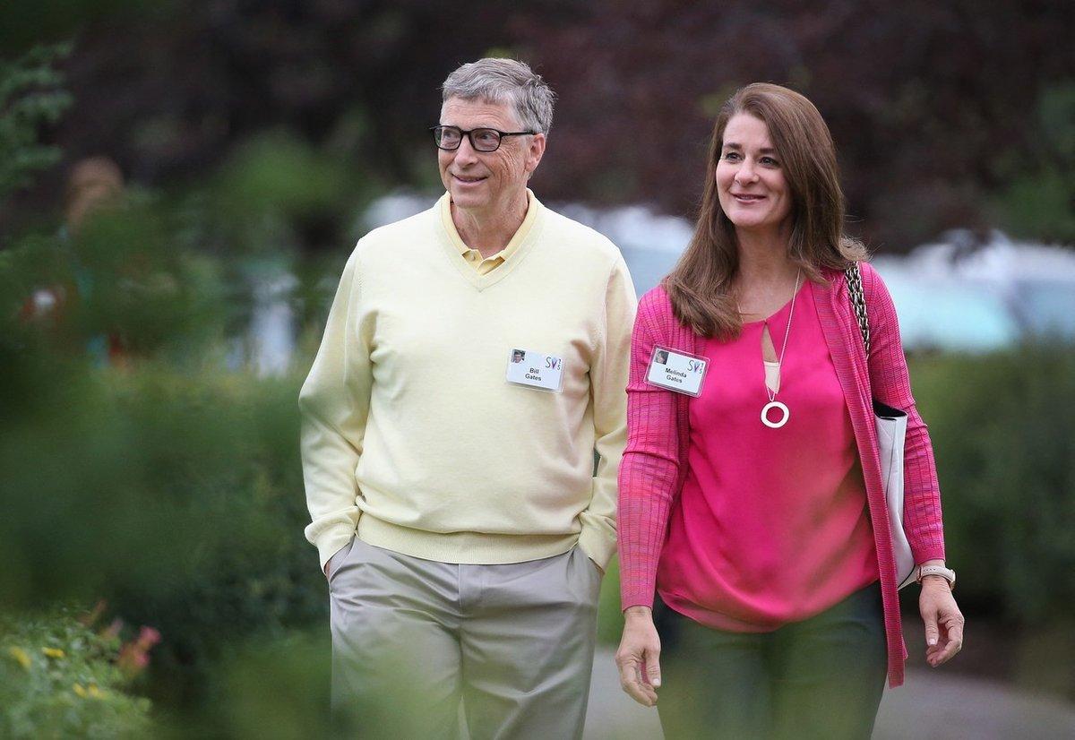 Bill Gates s manželkou Melindou.