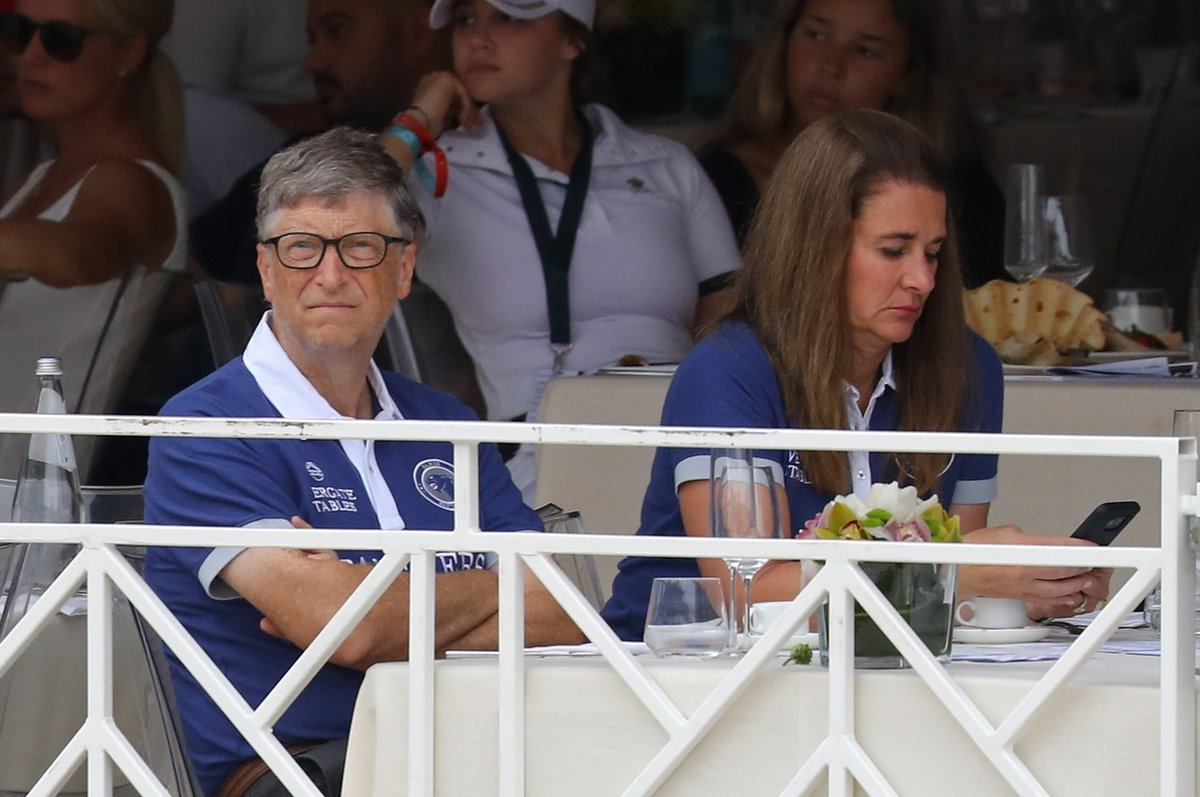 Manželé Gatesovi při jezdeckých závodech dcery Jennifer