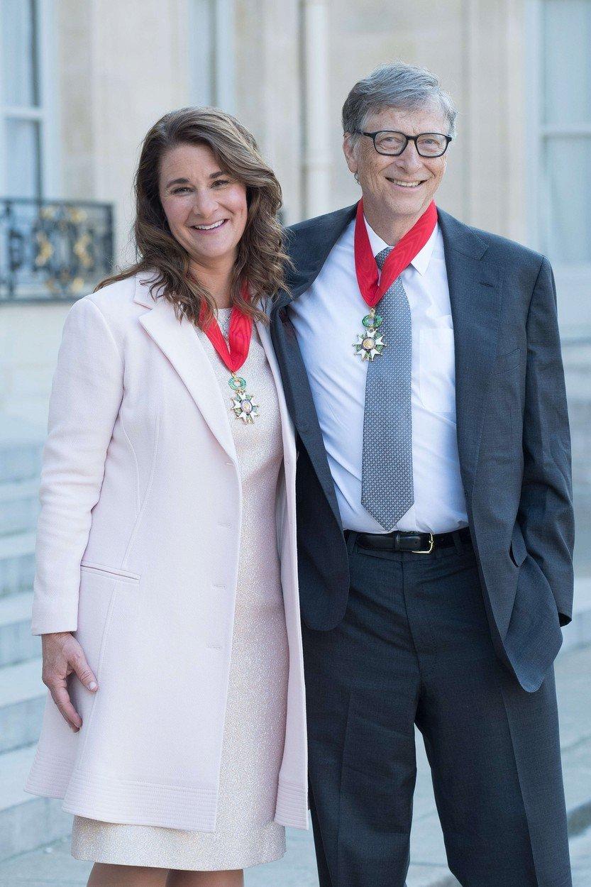Bill Gates s manželkou Melindou