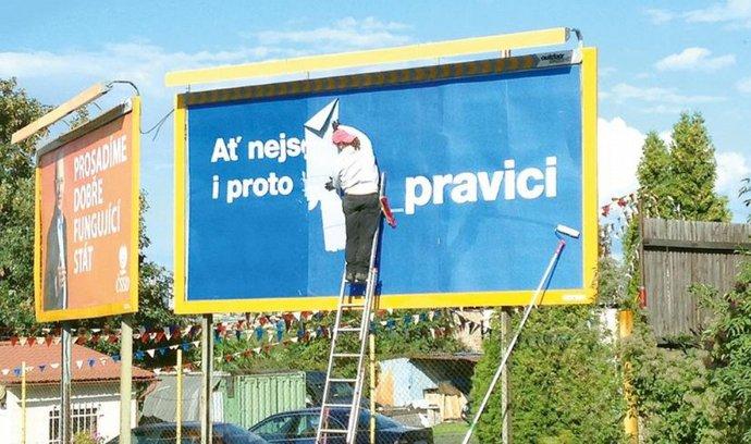 Billboardy ČSSD a ODS