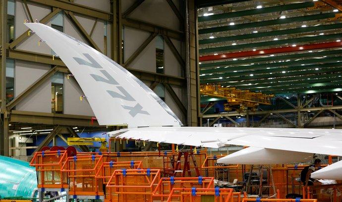 Výroba boeingů 777X