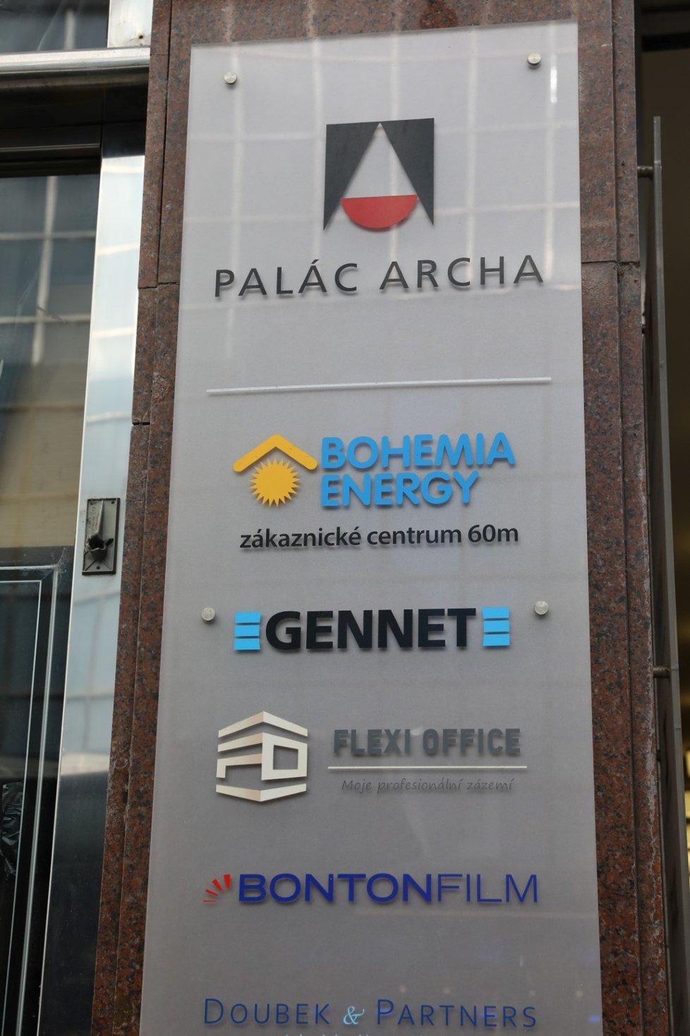 Bohemia Energy měla kanceláře v centru Prahy