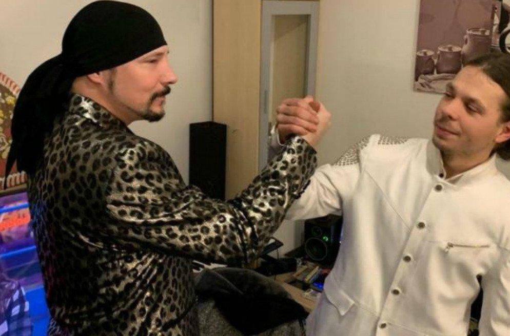 Bohuš Matuš s bratrem Janem v nahrávacím studiu
