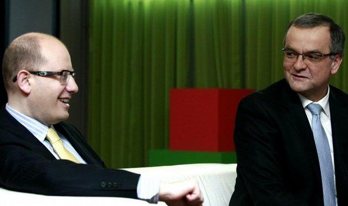 Bohuslav Sobotka s Miroslavem Kalouskem