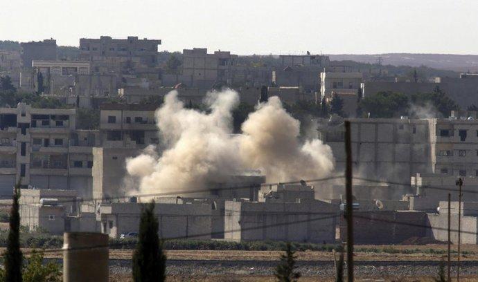 Boje v syrském Kobani