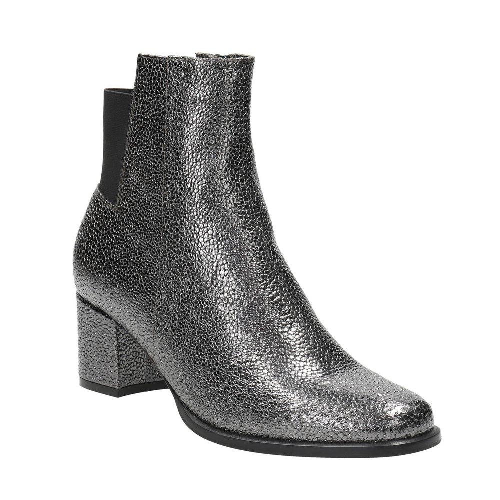 Metalické kotníkové boty, Baťa, 3799 Kč