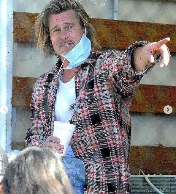 Brad Pitt se práce nebojí.