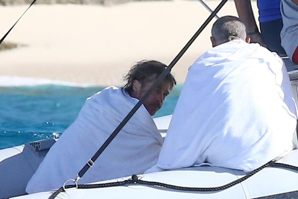 Brad Pitt na dovolené v Karibiku