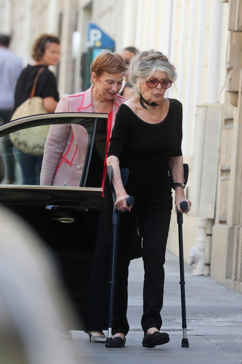 Bridgitte Bardot má problémy s kyčlemi a musí používat hůl při chůzi.