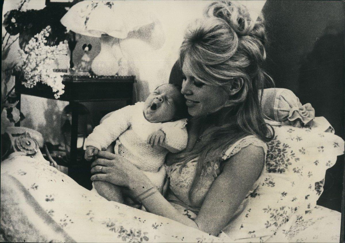 Brigitte se svým synem Nicolasem.