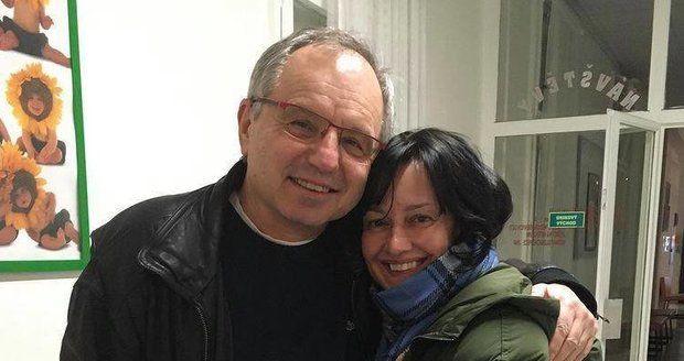 Tereza s profesorem Pařízkem