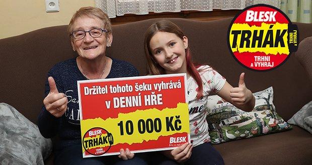 Jaroslava Brožová vyhrála v Denní hře Blesku 100 tisíc korun!