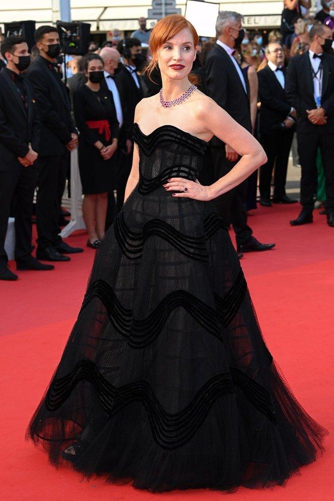 Jessica Chastain v šatech Dior
