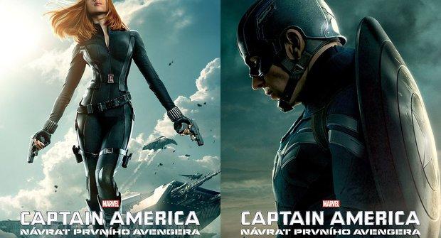 Hrdinové z pokračování Captaina Ameriky mají super plakáty