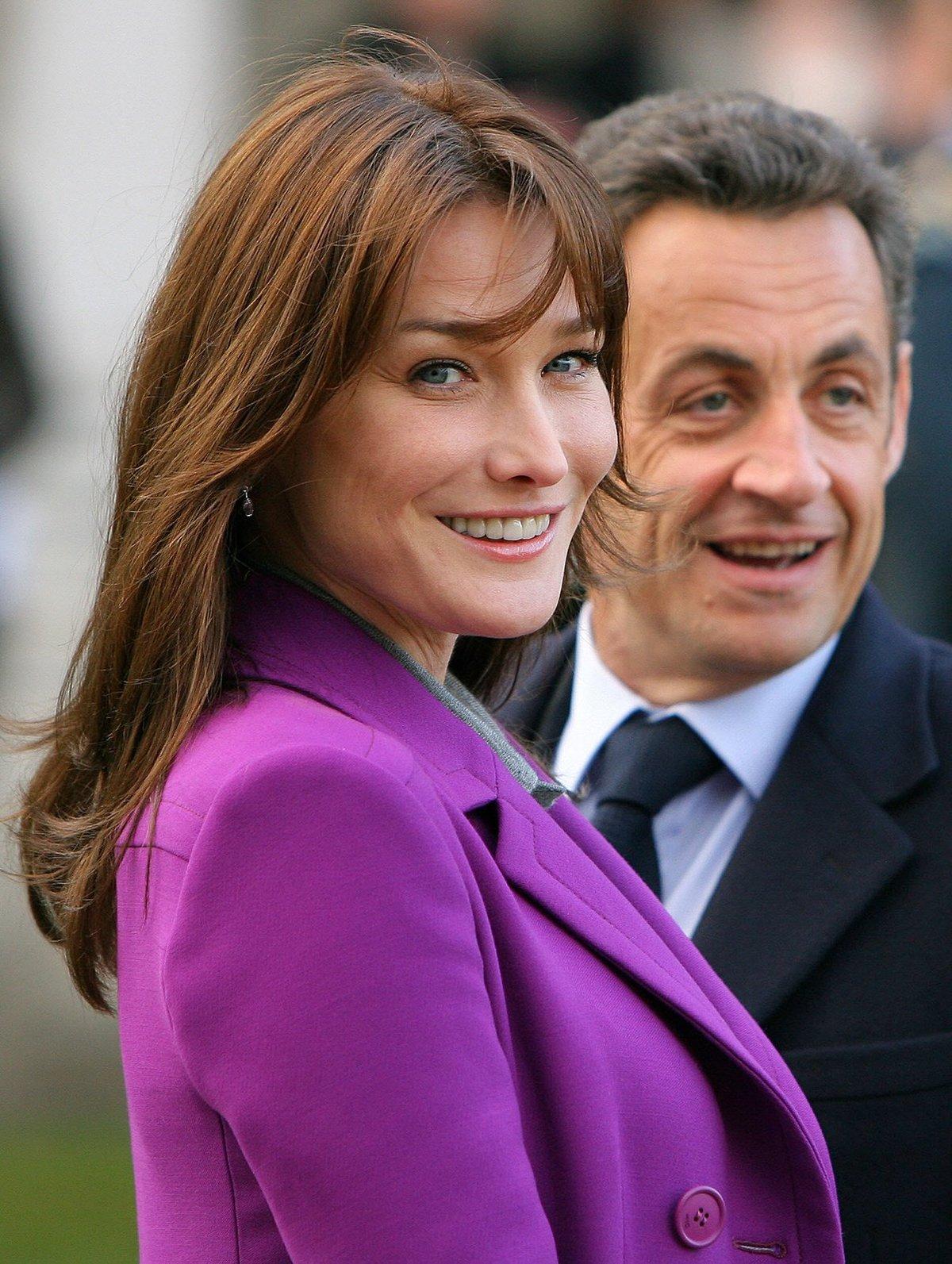 Nicolas Sarkozy a Carla Bruni.