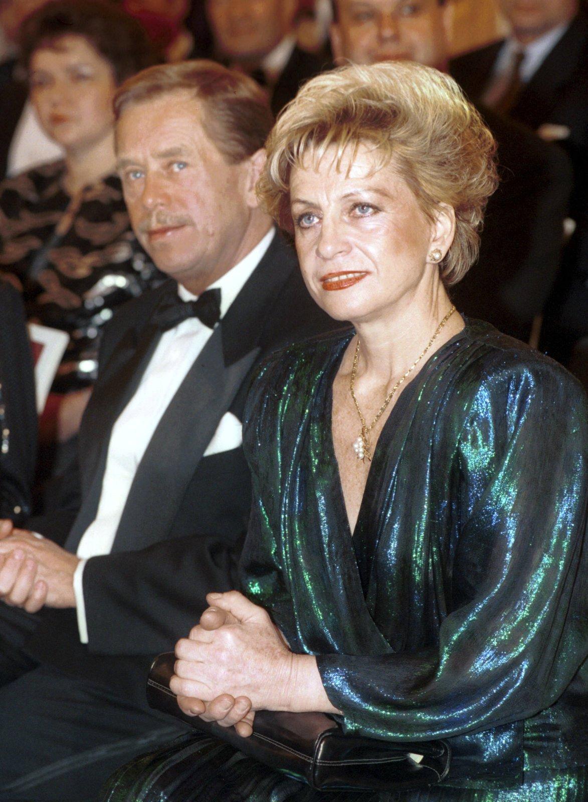 Věra Čáslavská a Václav Havel v roce 1980