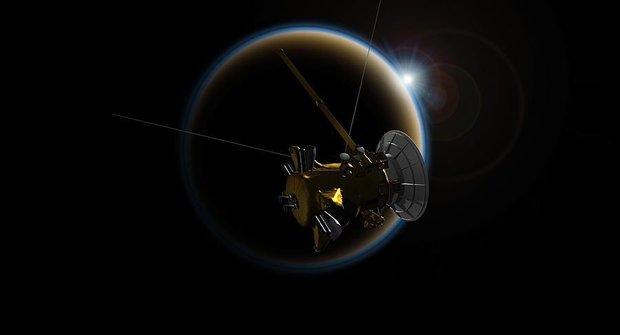 Sonda Cassini shořela v atmosféře Saturnu
