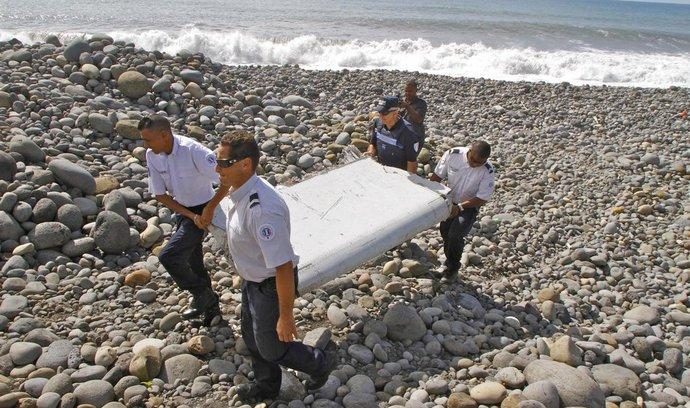 Část křídla Boeingu 777 nalezená na ostrově Reúnion