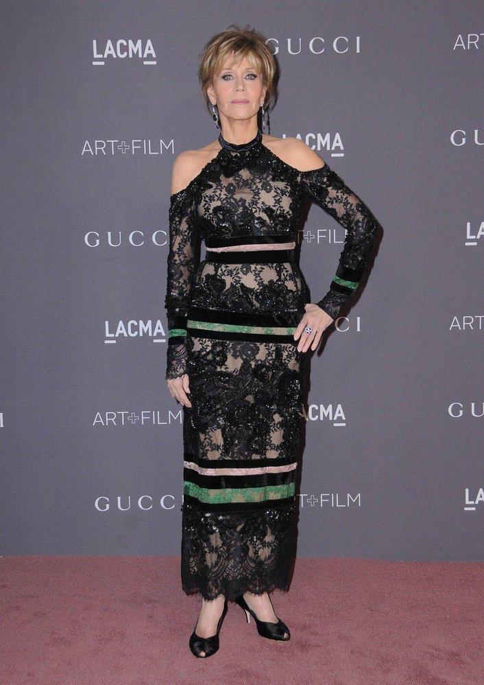 Jane Fonda v šatech Elie Saab