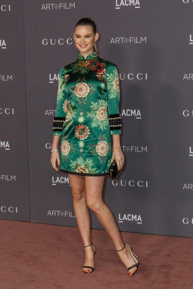Behati Prinsloo v šatech Gucci