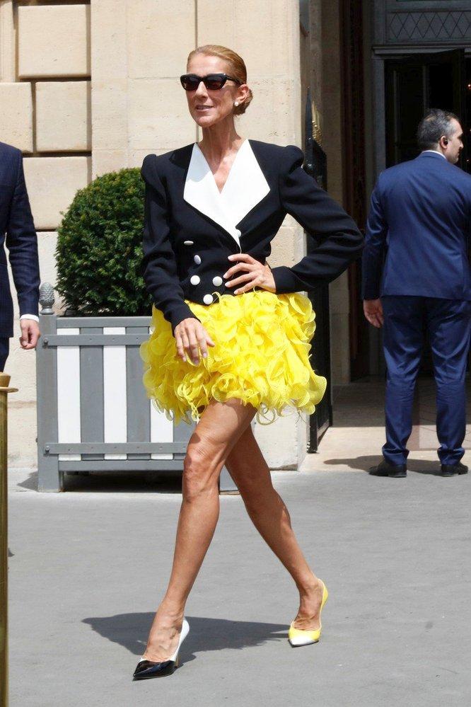 Céline v modelu udržitelné couture značky Ronald van der Kemp