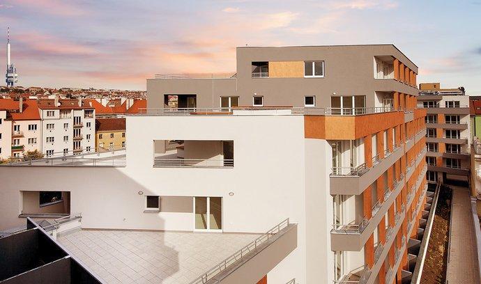 Vizualizace bytového projektu Petrohradská, který v Praze 10 staví developer Central Group.