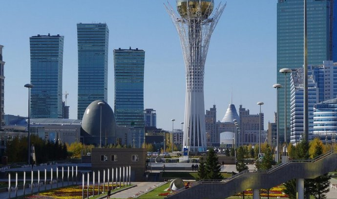Centrum Astany v Kazachstánu