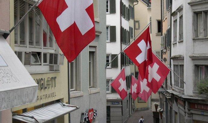 Centrum švýcarského hospodářství Zürich.