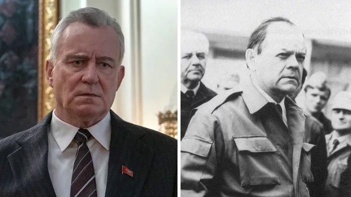 Celoživotního člena ÚV KSSS si zahrál Stellan Skarsgard. Boris Ščerbyna zemřel před 19 lety v 70 letech