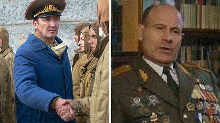 Rafph Ineson jako generál Tarakanov. Ten velel černobylským likvidátorům
