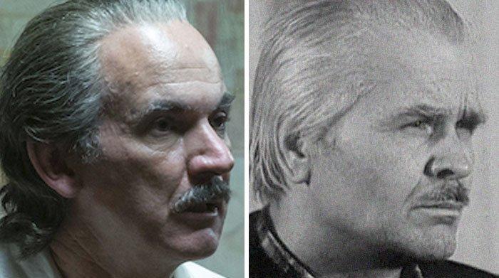 Paul Ritter hrál Anatolije Ďatlova. Černobylský šéf rovněž zemřel na následky ozáření, byl i postaven před soud