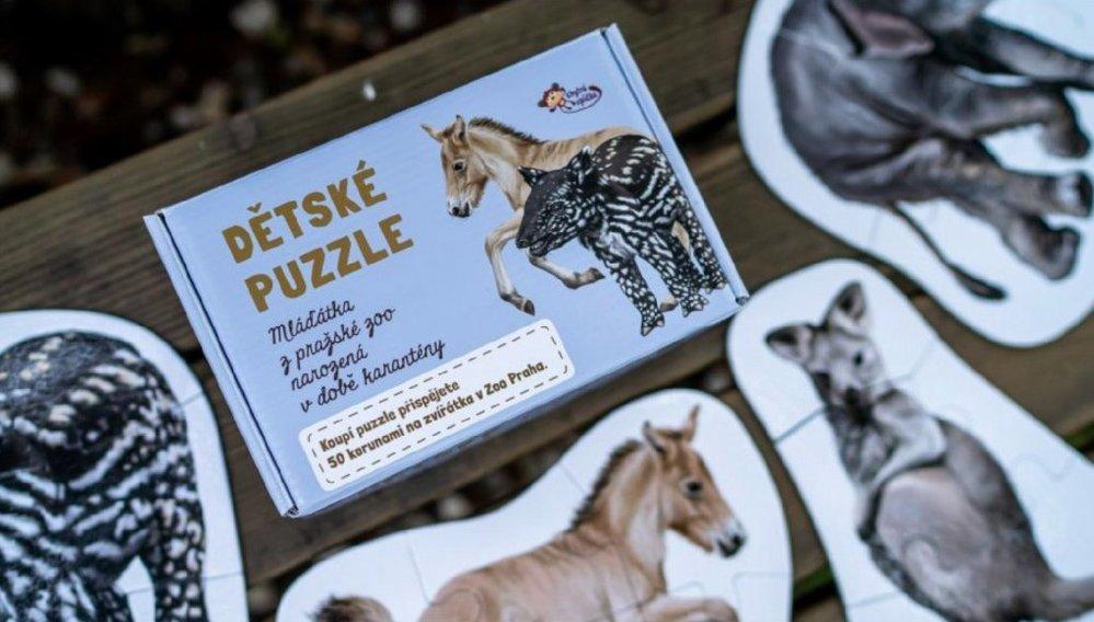Dětské maxi puzzle Zvířátka narozená v karanténě v Zoo Praha (vhodné od 3 let), Pro prcky, 359 Kč, www.proprcky.cz