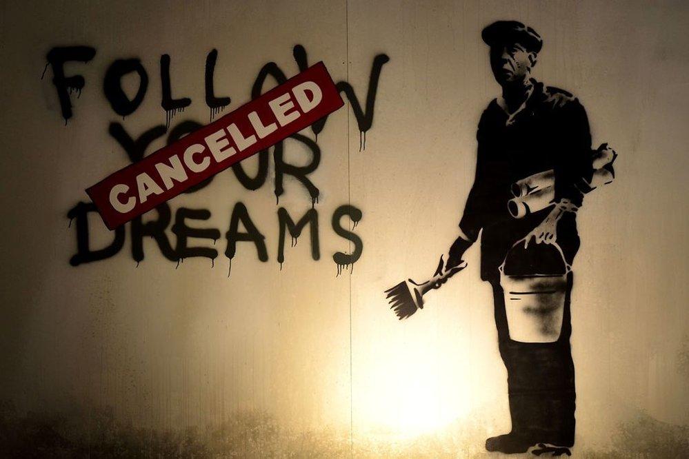 Neautorizovaná výstava kopií a reprodukcí The World of Banksy ve výstavní síni Mánes - Následuj své sny - Zrušeno