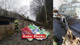 Česko zasáhne silný vichr: Výstraha platí pro pět krajů! Sledujte radar Blesku