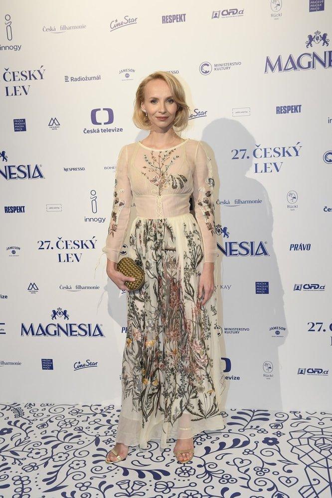 Jana Plodková v šatech Dior