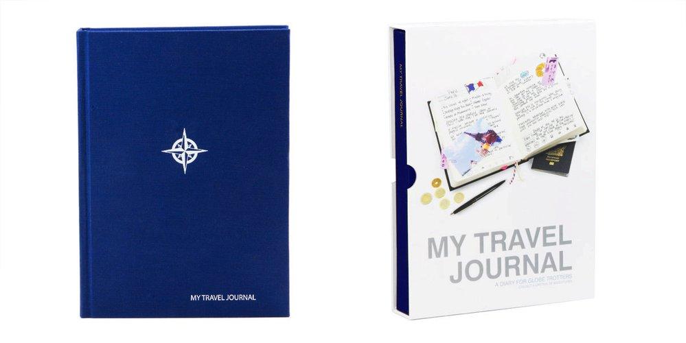 Cestovní deník SUCK UK My Travel Journal, modrý, Naoko, 695 Kč