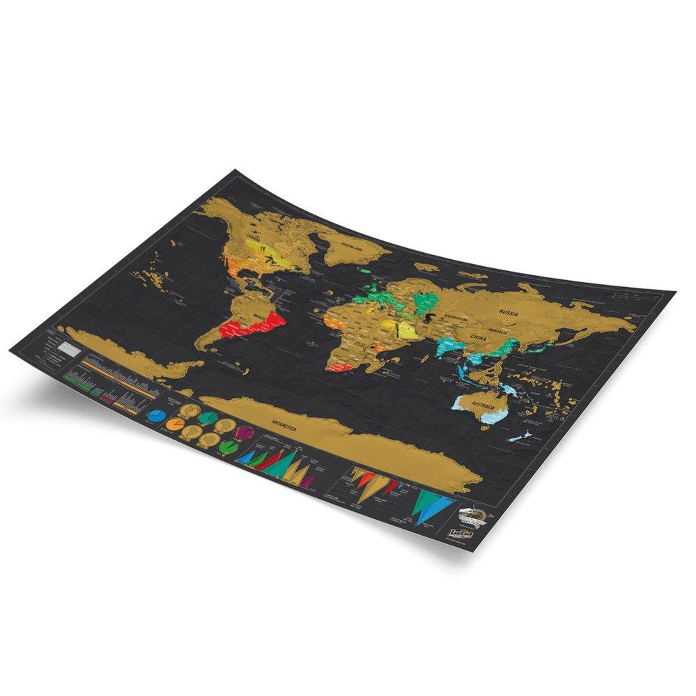Seškrabávací mapa světa Luckies of London Travel Deluxe, Bonami, 469 Kč
