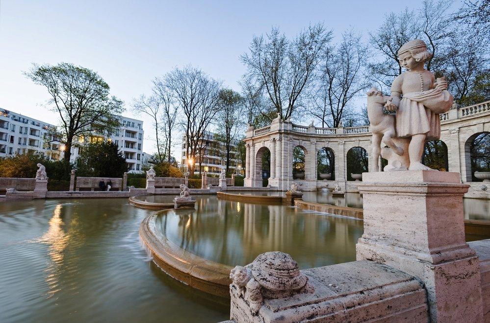 Maerchenbrunnen, Fairytale Fountain, in the Volkspark Friedrichshain, Berlin
