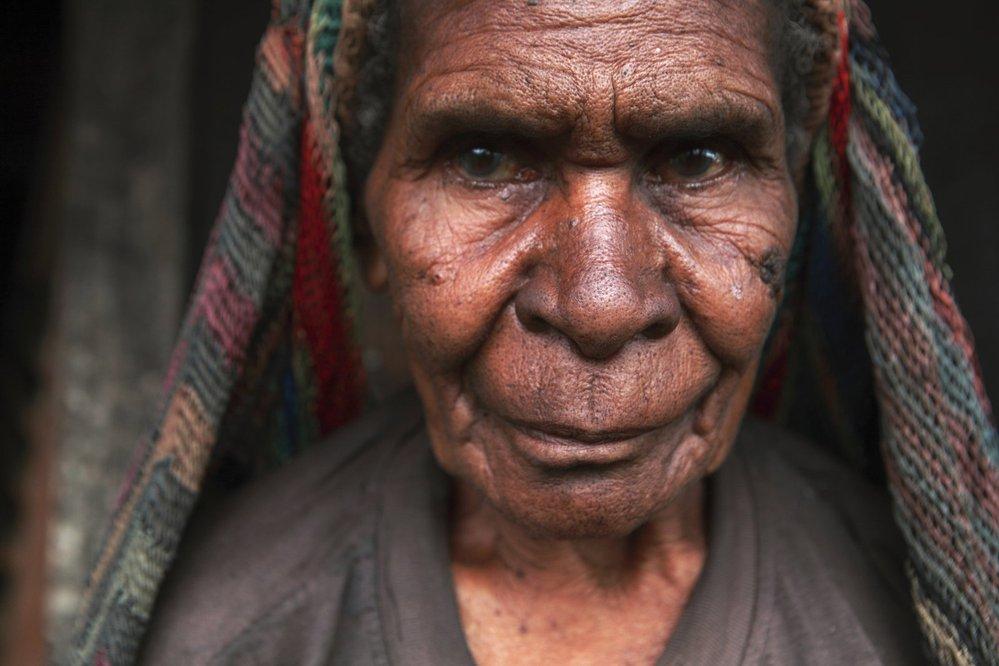 Západní Papua, žena kmene Yali