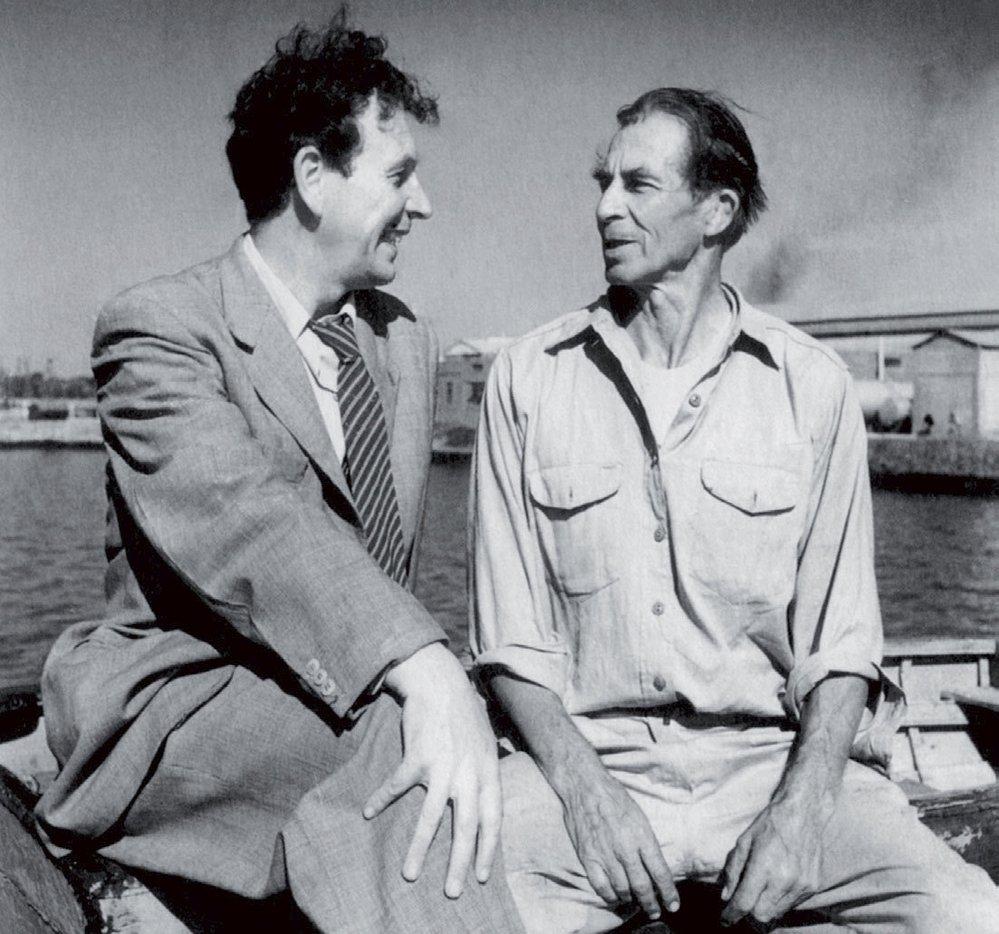 Eduard Ingriš (vlevo) a William Willis. Zpočátku se Ingriš s Američanem pokoušel dohodnout na společné plavbě.