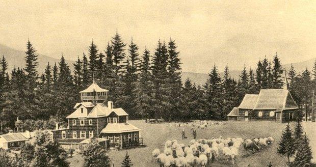 Chata Prašivá na archivním snímku.